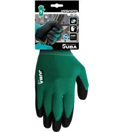 GUANTE NYLON FEEL&GRIP VERDE/NEGRO H257/9