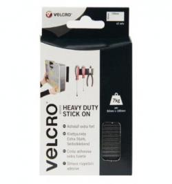 PIEZA VELCRO RECTANGULAR HEAVY DUTY ADH (2JGOS)50X100MM NEG