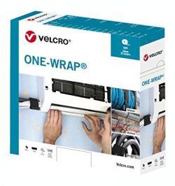 CIERRE VELCRO® PARA CABLES ONE-WRAP 30MMX5MT NEGRO