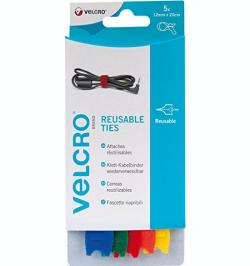 CIERRE VELCRO ONE-WRAP STRAPS CORREAS(5UN)MULTI