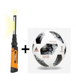 LAMPARA LED ARTICULADA RECARGABLE 1838SLR + BALON MUNDIAL