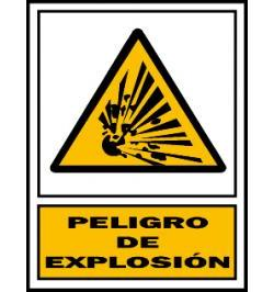 SEÑAL PELIGRO 326 PVC 1MM 297X420 CASTELLANO
