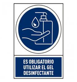 SEÑAL USO GEL PVC 245X345MM 78-800/02