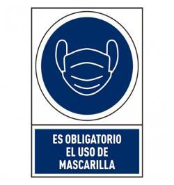 SEÑAL USO MASCARILLA PVC 245X345MM 78-800/04