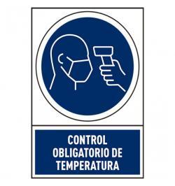 SEÑAL OBLIG TEMPERATURA PVC 245X345MM 78-800/06