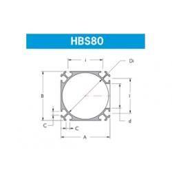KIT PARA VALVULA ESFERICA COMPLETA HBS80-003004047