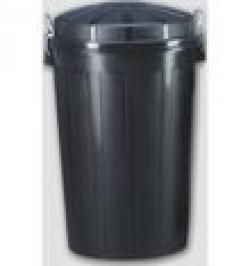 CUBO INDUSTRIAL PLASTICO NEGRO C/TAPA 95L 23187