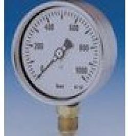 MANOMETRO GLICERINA INOX 63MM-1/4A-0/16B POSTERIOR