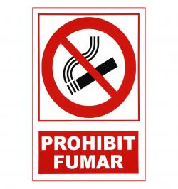 SEÑAL PROHIBICION 201 PVC 1MM 297X210 CATALAN