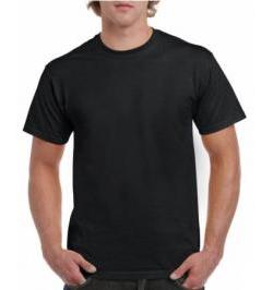 CAMISETA HEAVY 185GR NEGRA 4XL