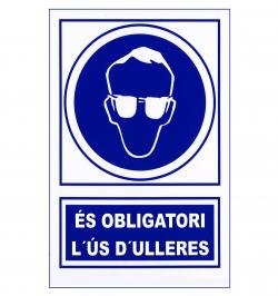 SEÑAL OBLIGACION 130 PVC 1MM 297X210 CATALAN