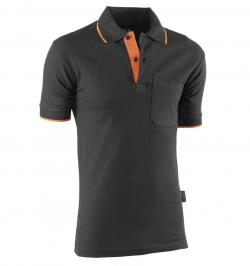 POLO M/C TOP RANGE NEGRO/NARANJA 647 XL
