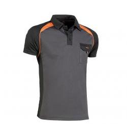 POLO TRANSPIRABLE M/C TOP RANGE NEGRO/NARANJA 964 XL