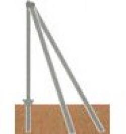 POSTE ESQUINERO GALV 48X1,5 C/ACCES 1,0MT