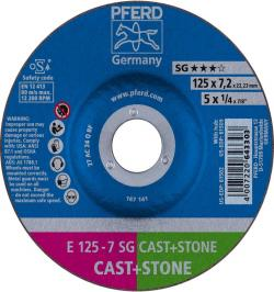 DISCO DESBASTE E 125-7 SG CAST+STONE