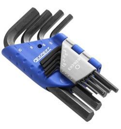 JGO 9 LLAVES MACHO 6C CORTAS EN SOPORTE PLASTICO E113929
