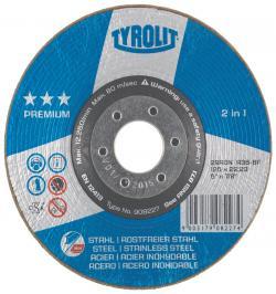 DISCO RONDELLER TYROLIT A36-BF 178X22,2