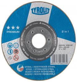 DISCO RONDELLER TYROLIT A36-BF 115X22,2